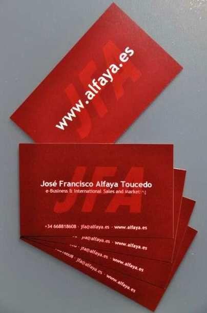 Tarjetas de visita José Francisco Alfaya Toucedo | JFA