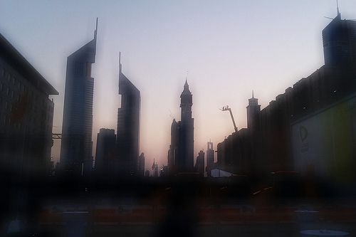 Emirates Twin Towers (sightseeing from Dubai World Trade Center)